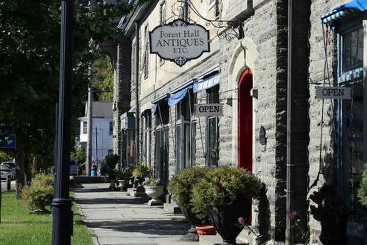 Nearby Milford, PA has great shops and antiques!