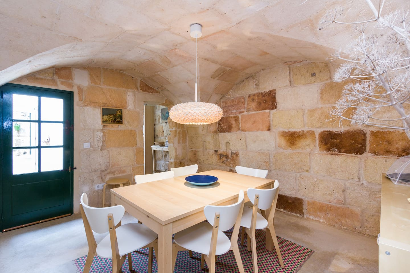stone vault in the dining room