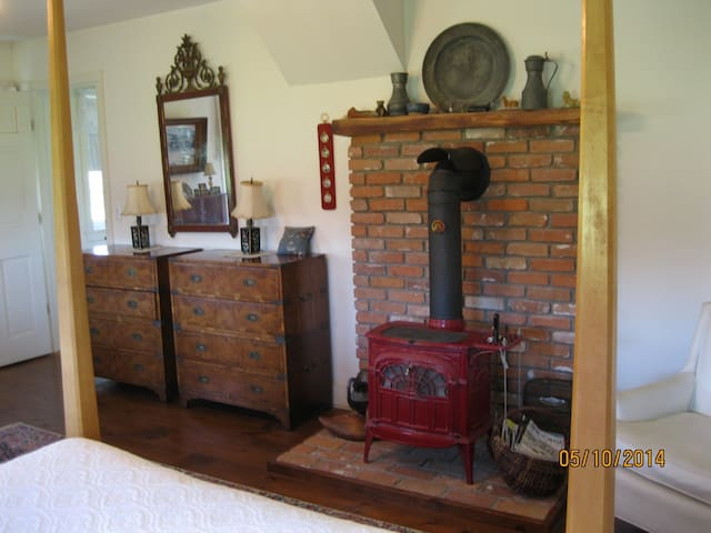 Wood stove in Captain's Room