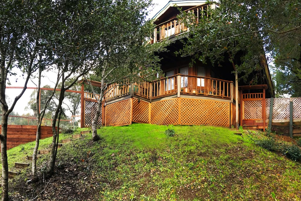 Welcome to this beautiful Architect designed, Craftsman- style home perched on a sunny knoll in the heart of the North Bay countryside- only 22 miles from San Francisco .