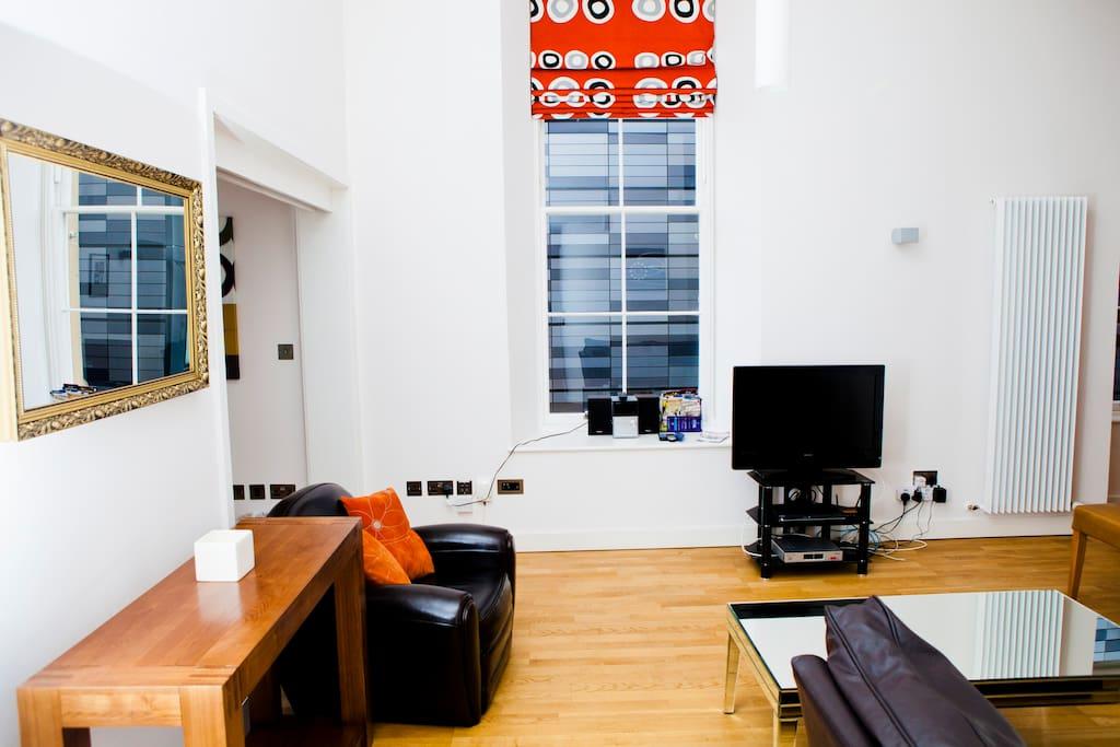 Bright modern living area