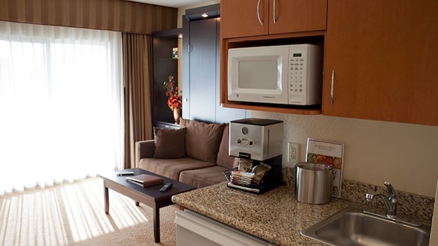 Polo Towers Studio Las Vegas Partial Kitchen!