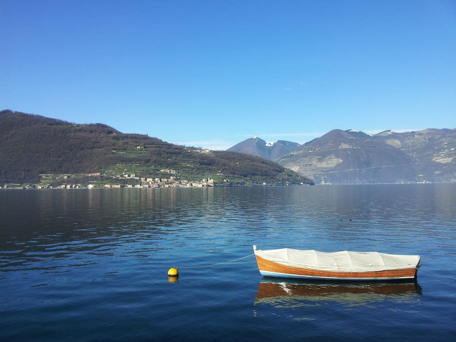 Lake Iseo from Sale Marasino's shore