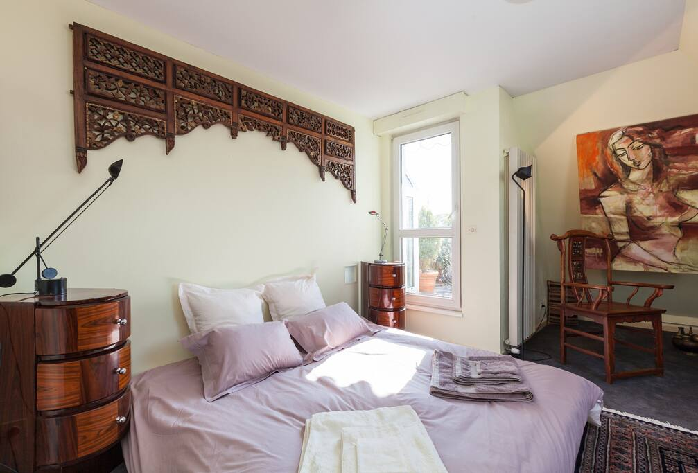 Suite queen chinoise sur terrasse chambres d 39 h tes louer strasbourg alsace france - Chambres hotes strasbourg ...