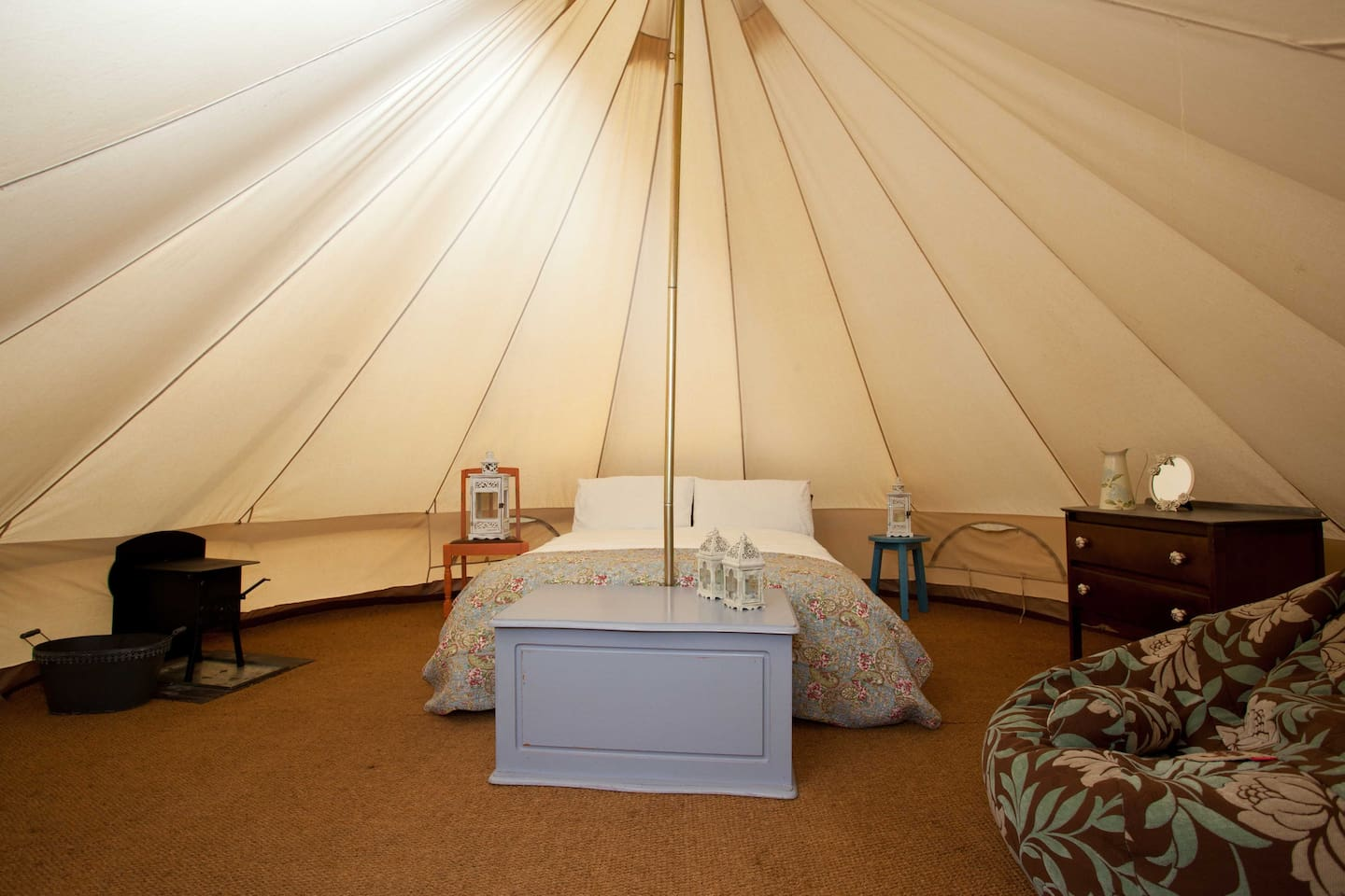 Luxurious Bell Tents to ensure a Unique Experience
