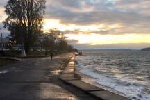 Alki ; 1/4 mile away. Winter Sunset