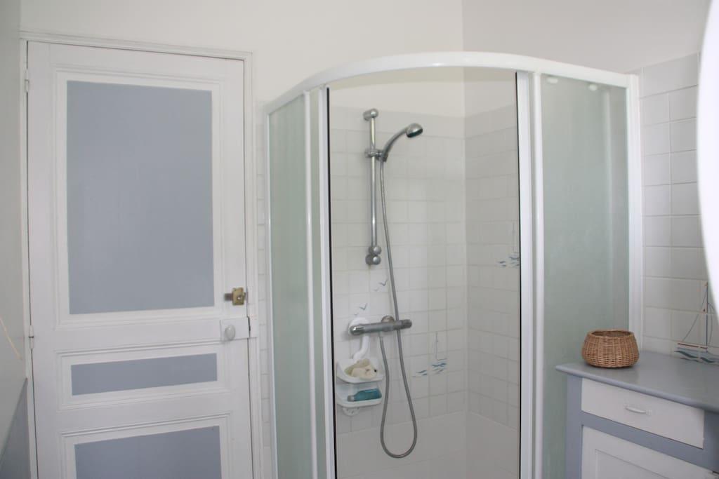 Salle de bain attenante avec douche 100x100