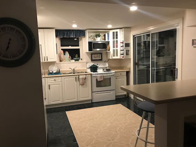 Private Apt. in a Family Home.  Parking & Internet
