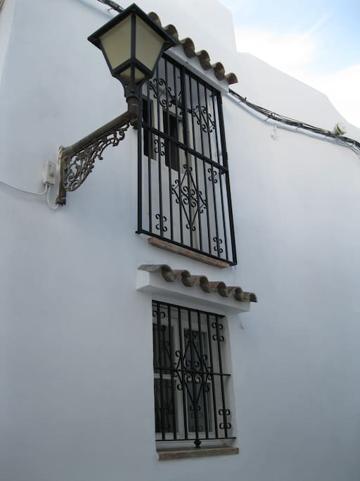 The Casa Carmela from the street.  Step into the patio to enter.
