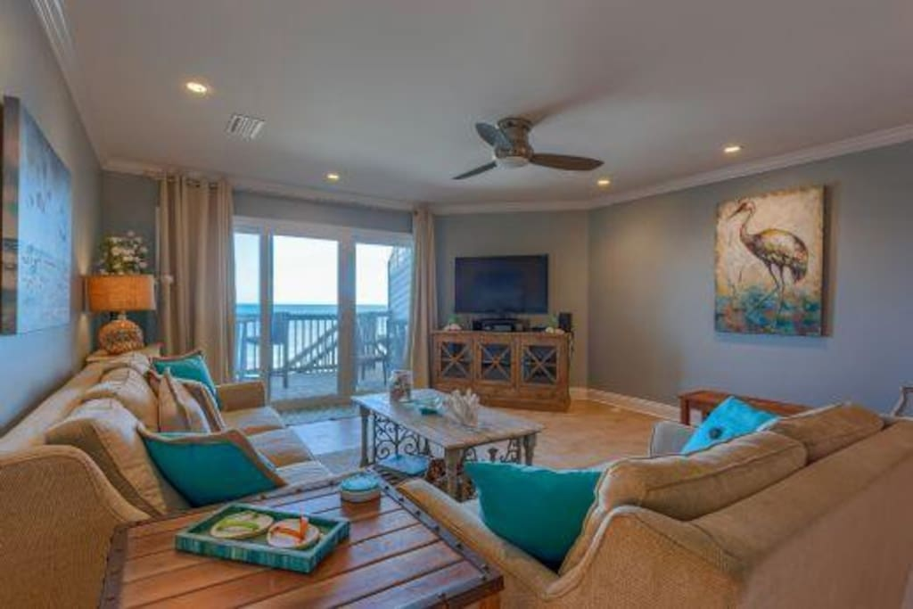 Gulf Front Living Room