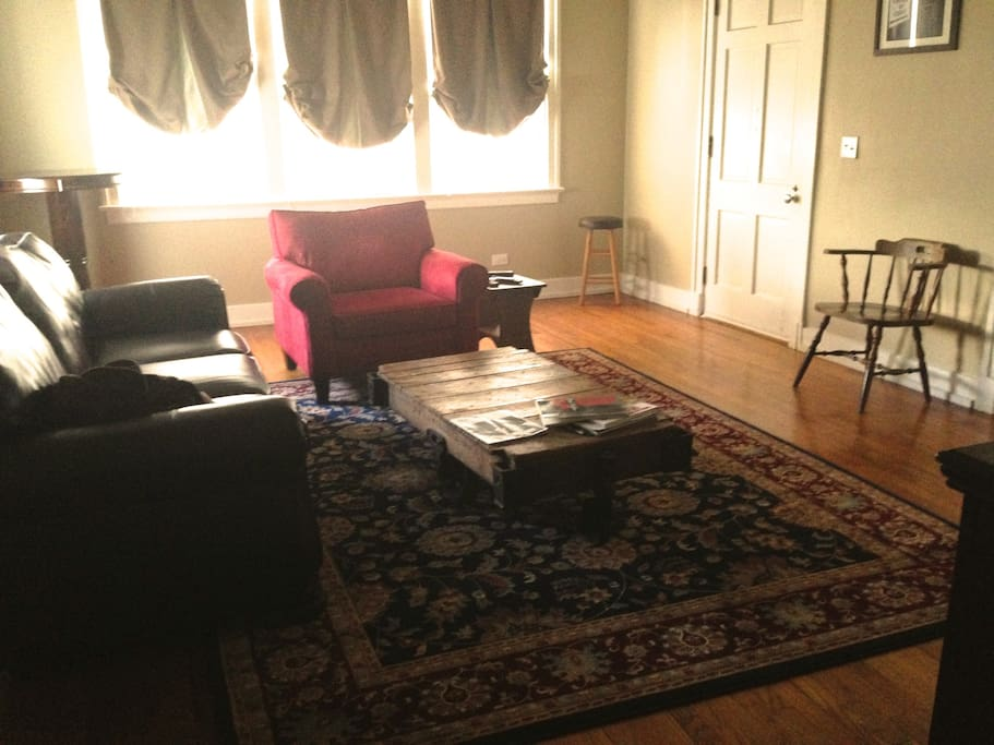 Living Room, with lineberry cart coffee table.