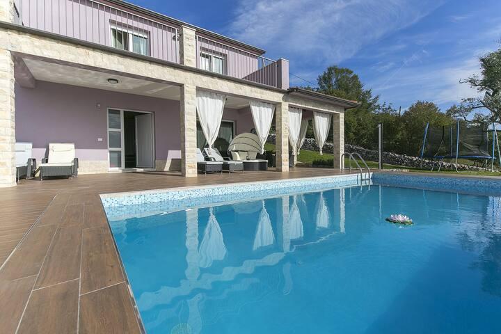 Villa Amelie mit großen Pool, 2 DZ, 2,5 Bäder - Ripenda Kras - Villa