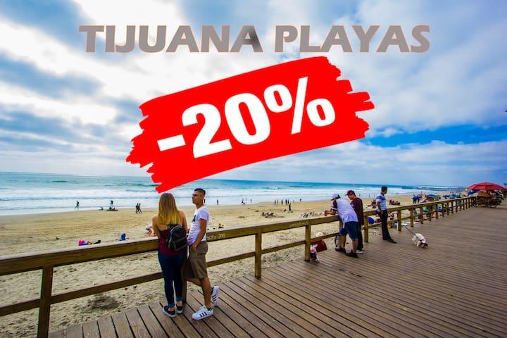 * ON THE BEACH FRONT OF THE SEA.  Tijuana APRT