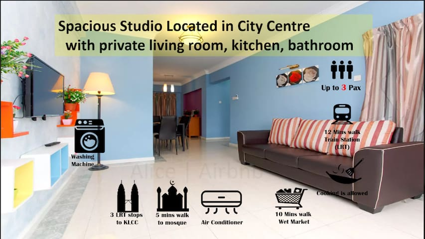 800+sqf Spacious Studio Near KLCC  Kitchen