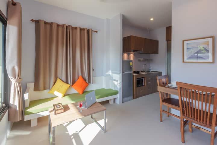 55 SQ.M. Cozy One Brd & Kitchen - Mountain View  @ Naiharn Beach