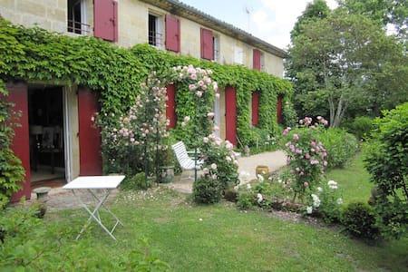 Chambre en bordure de rivière - Vignonet - Casa