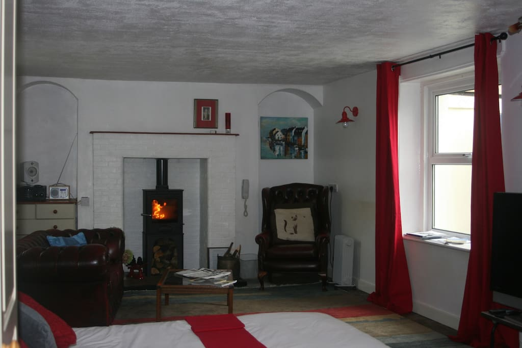 Log Burner and Rear Window