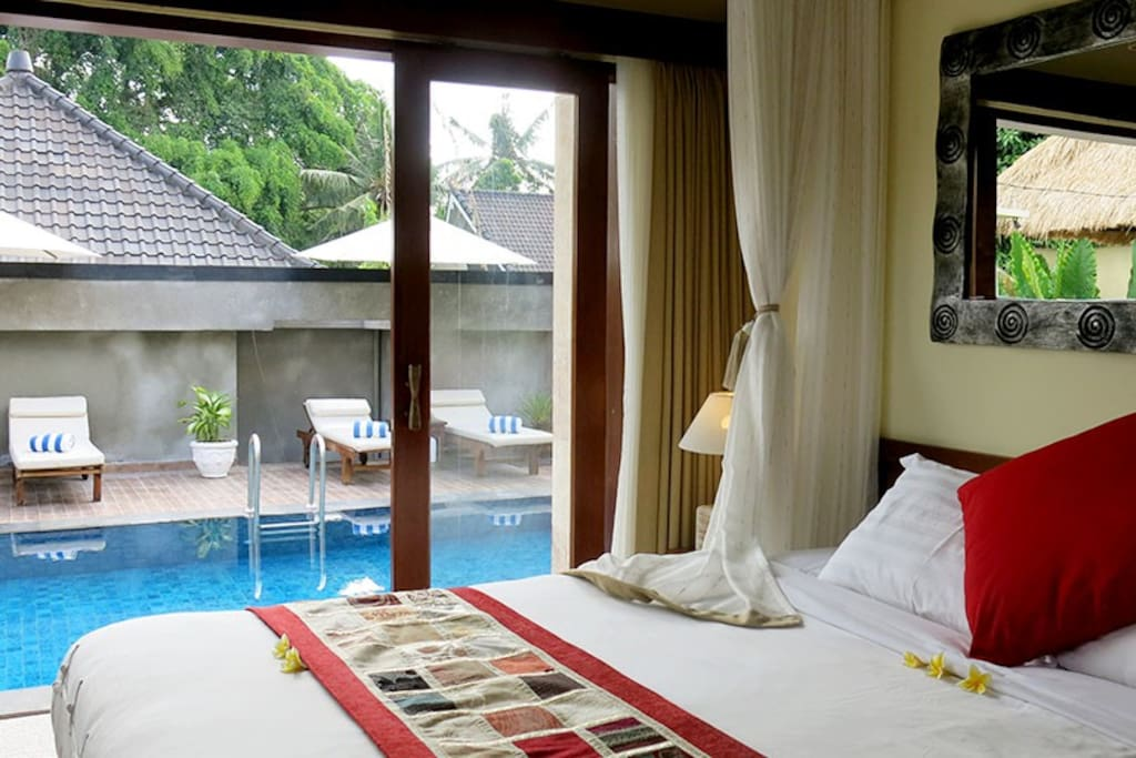 This is a 2 BR villa. One is called Villa Maya and the other is Villa Maya Sari. Both have access to a private pool