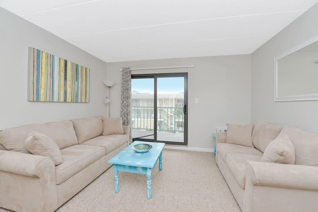 Living Room with Queen Sleep Sofa