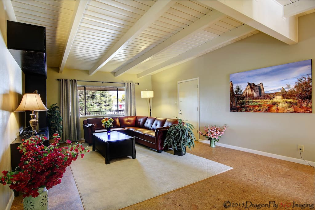 Dramatic vaulted ceilings