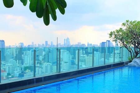 Jacuzzi, Amazing Pool and Gym on 44th floor! - Khwaeng Makkasan, Khet Ratchathewi - (ไม่ทราบ)