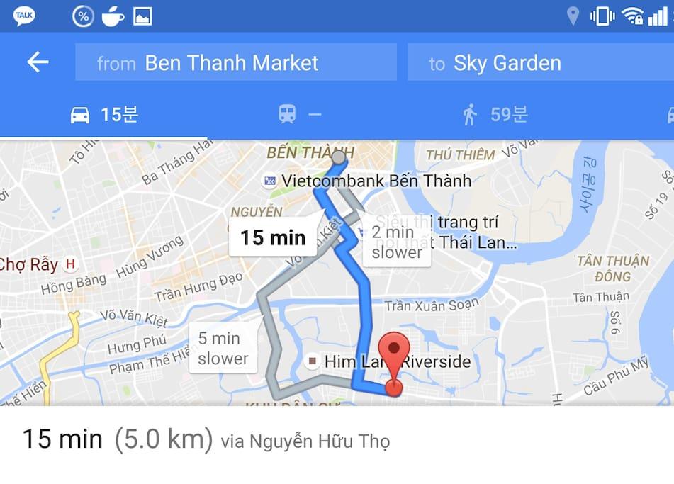 From Ben Thanh Market to Sky Garden (5km)
