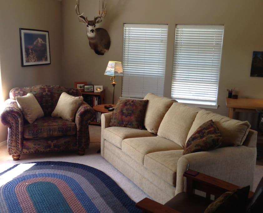 Bonus Room with queen sleeper sofa, and breakfast nook.