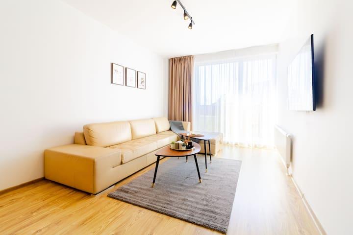 ☕CAPPUCCINO 1BR Apartment in City CENTER +Pkg☕