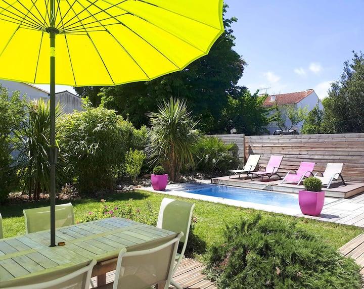 Villa proche des plages 2-7 pers, Piscine-Spa