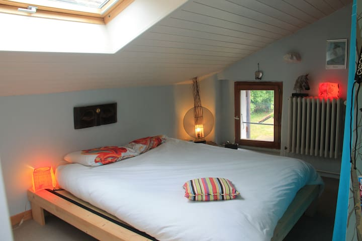 Master attic and private bathroom - Saint-Julien-en-Genevois - Other