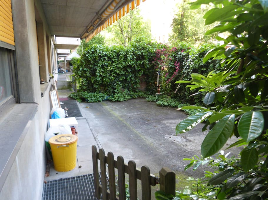 Small private garden-area