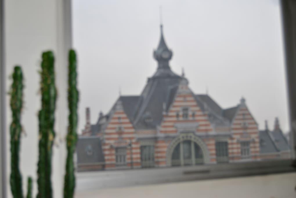 Ooooh! la vue sur le musée du train!!
