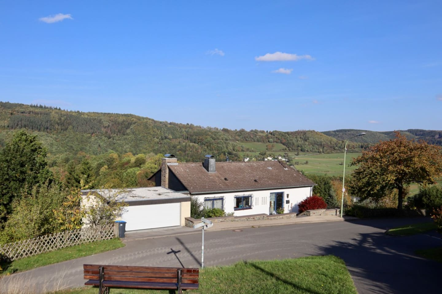 Blick auf Dedenborn - holidayhouse in the middle of the Nord-Eifel Germany.