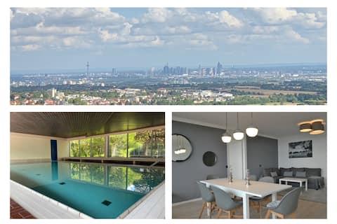 Apartamento Skyline con piscina para 2-6 personas y Netflix
