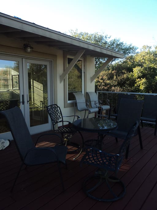 Comfortable and spacious seating on the terrace