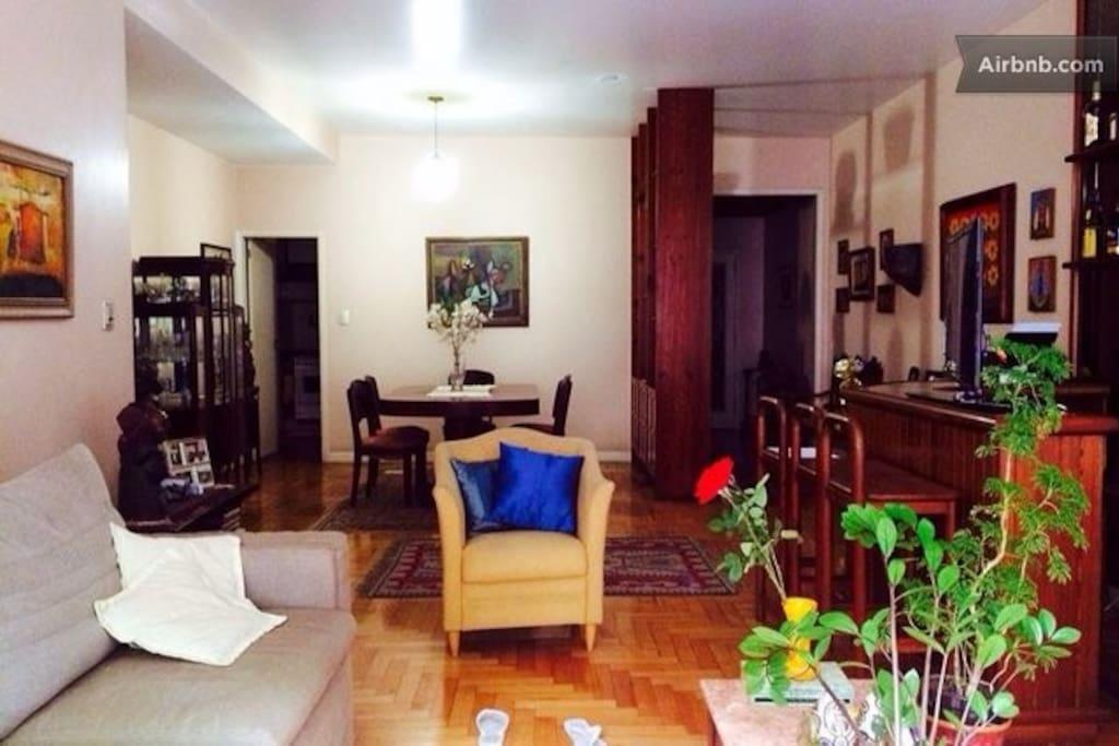 living room - entrance door