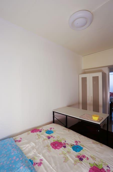 Room 5: wardrobe and big work table