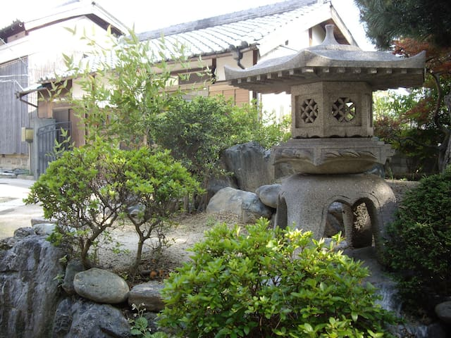 Traditional Japanese garden.