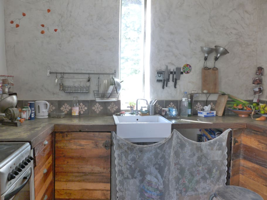 cuisine ouverte sur salon / salle à manger