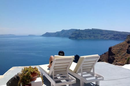 Cave house Oia Caldera Amazing view with Jacuzzi