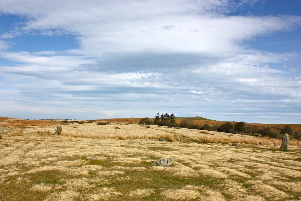 Mitchell's fold stone circle on stapeley common