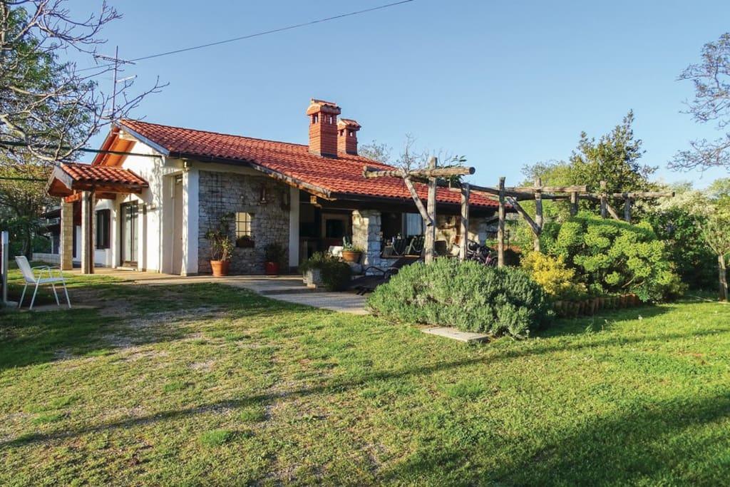 house, garden