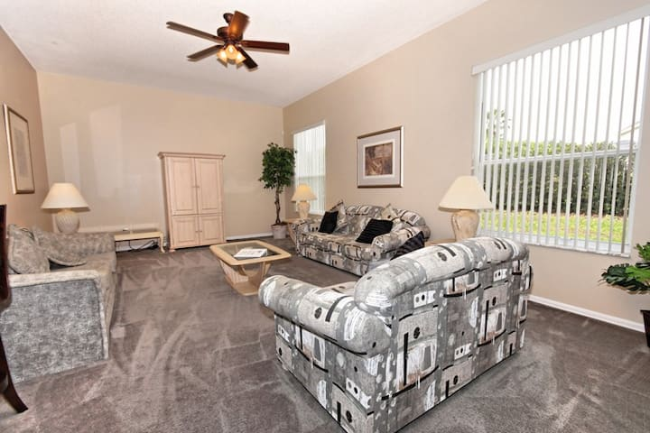 Main Family Room with Flat Screen TV