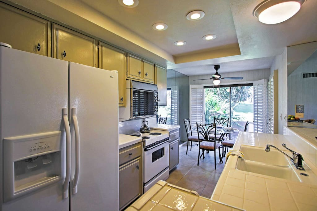 With a fully equipped kitchen, you and your traveling companions can cook some of your favorite home-cooked meals!