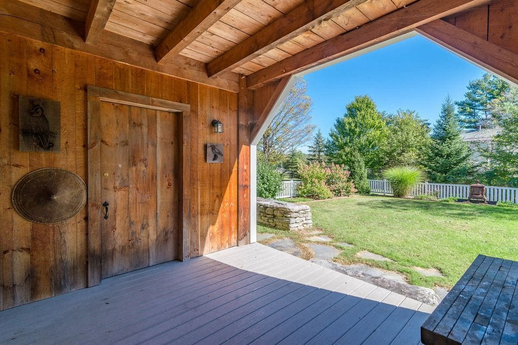 Covered Porch at Side Yard