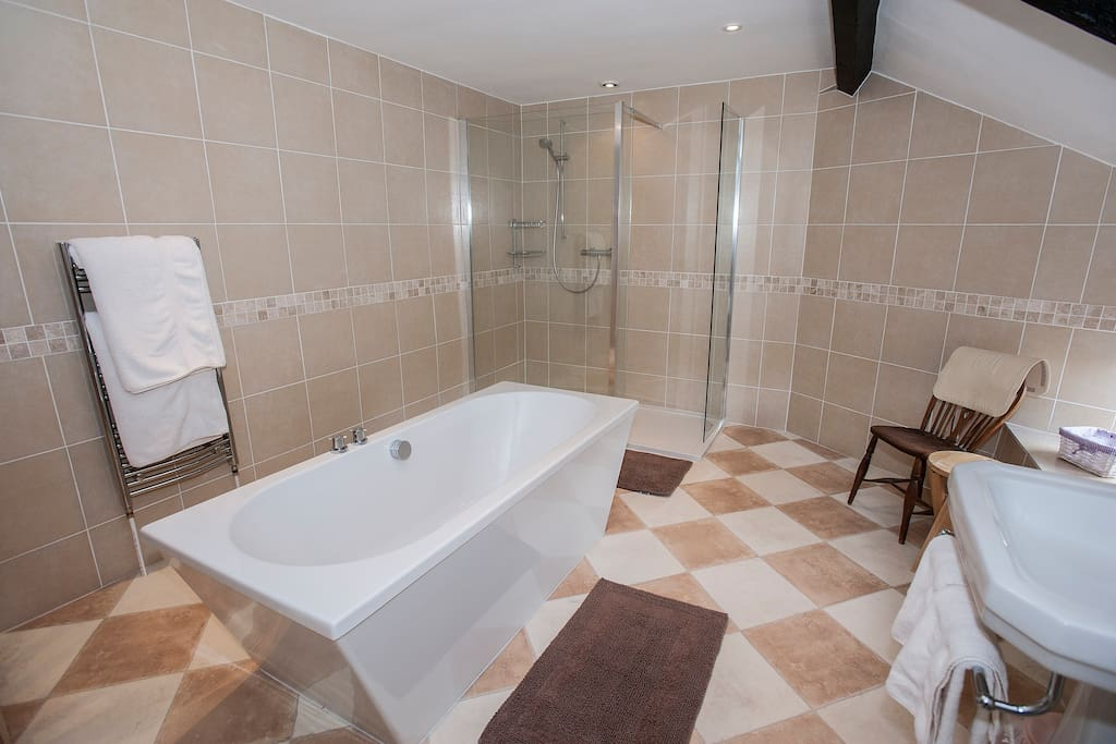 Example of a bathroom in our premier rooms