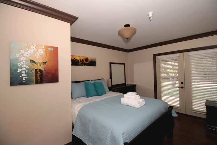 Spacious 2 bedroom suite with patio area-7