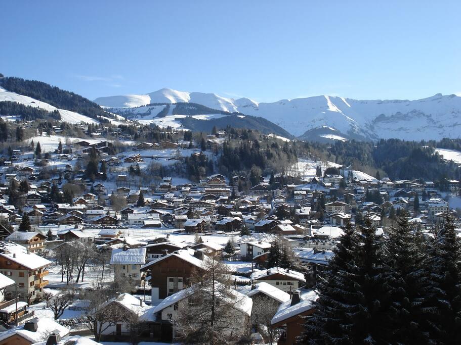 vue depuis le balcon en hiver