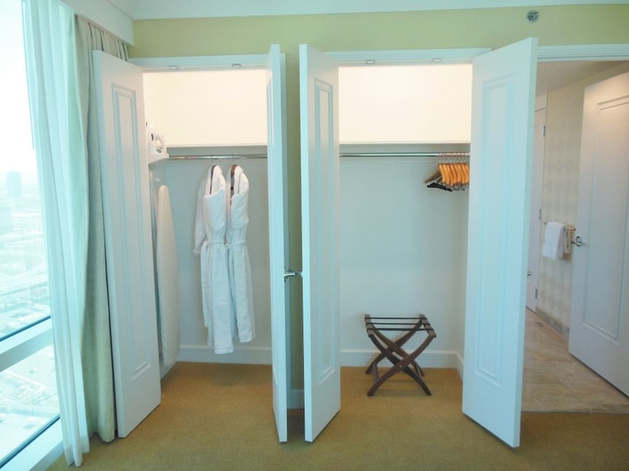 THE BEDROOM FEATURES TWO SPACIOUS WALK-IN-CLOSETS