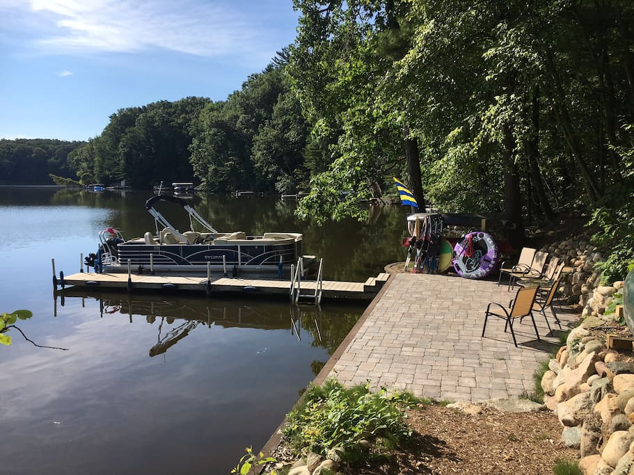 Lakeside patio and dock